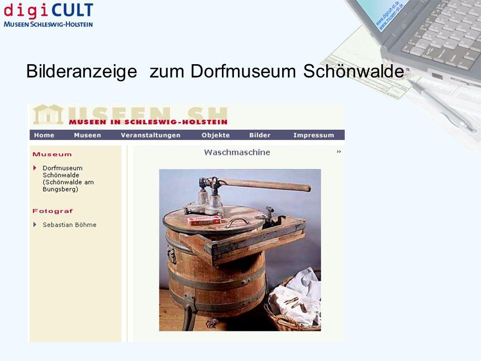 Bilderanzeige zum Dorfmuseum Schönwalde