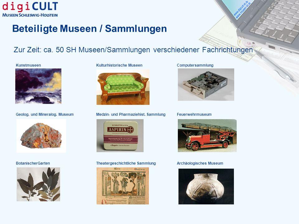 Beteiligte Museen / Sammlungen
