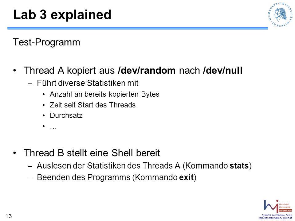 Lab 3 explained Test-Programm