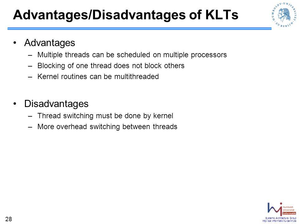 Advantages/Disadvantages of KLTs