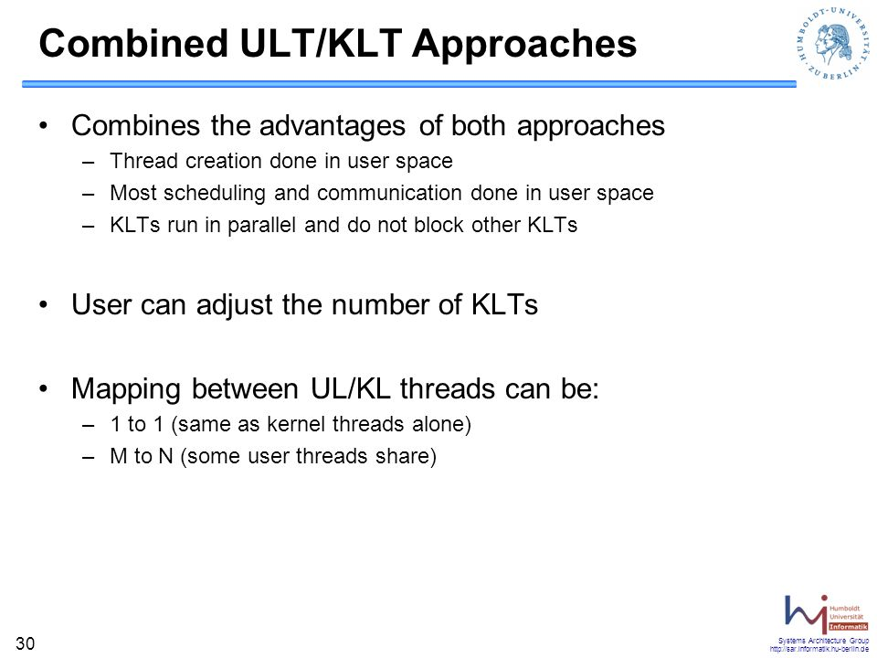Combined ULT/KLT Approaches