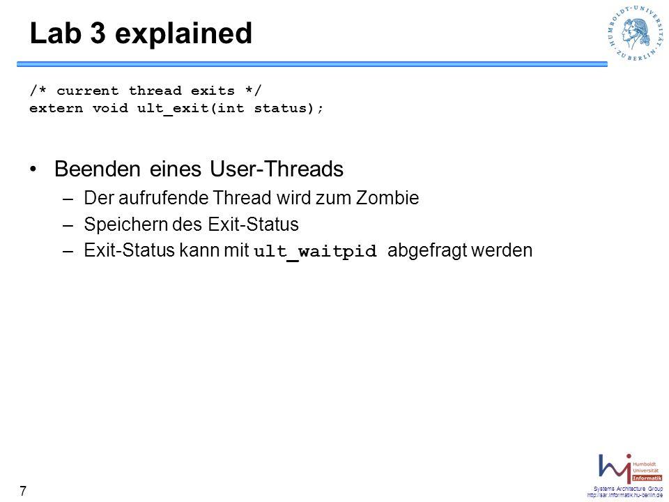 Lab 3 explained Beenden eines User-Threads