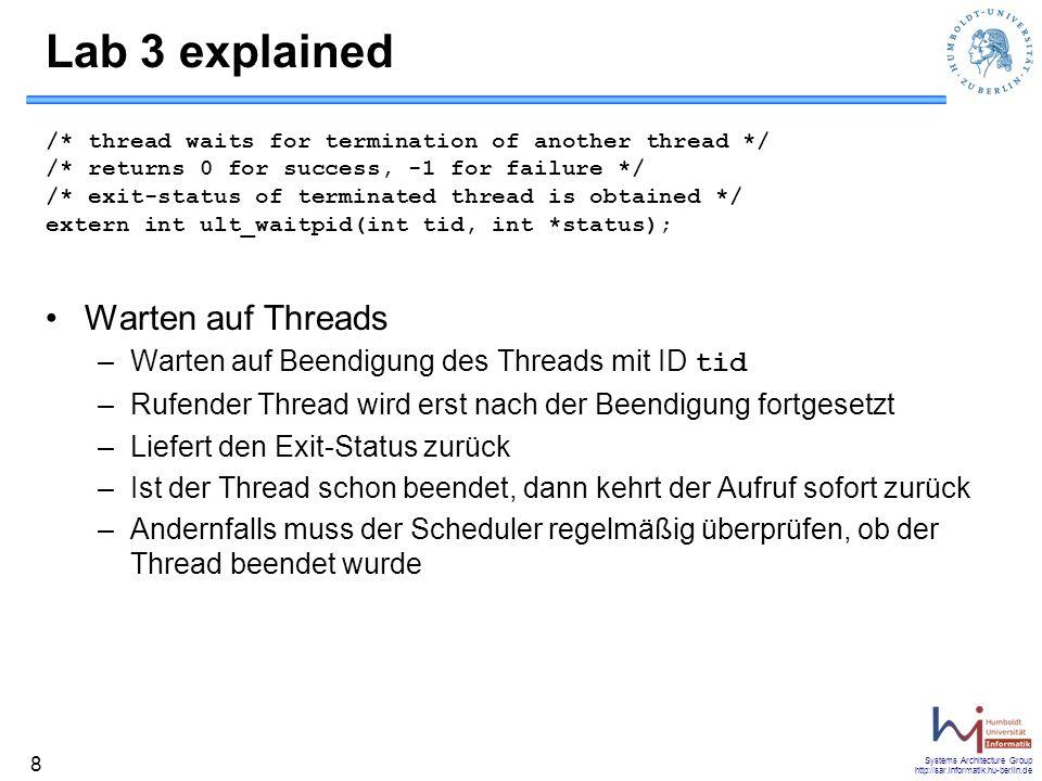 Lab 3 explained Warten auf Threads