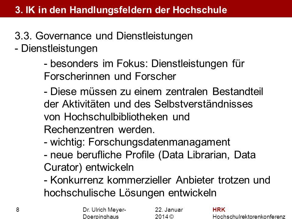 3.3. Governance und Dienstleistungen - Dienstleistungen