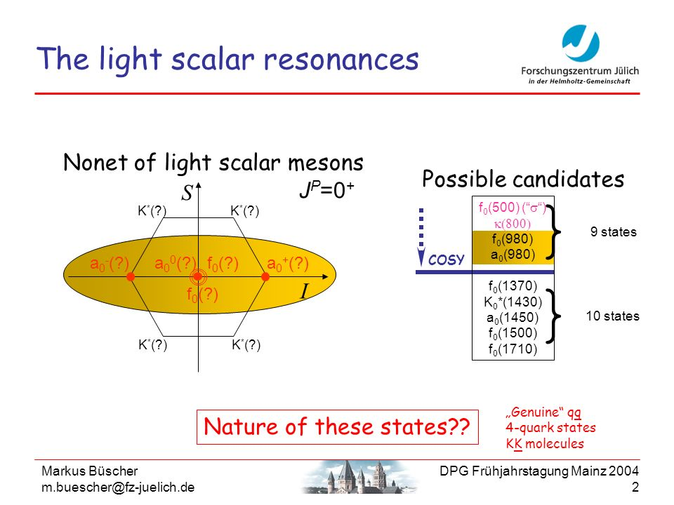 The light scalar resonances