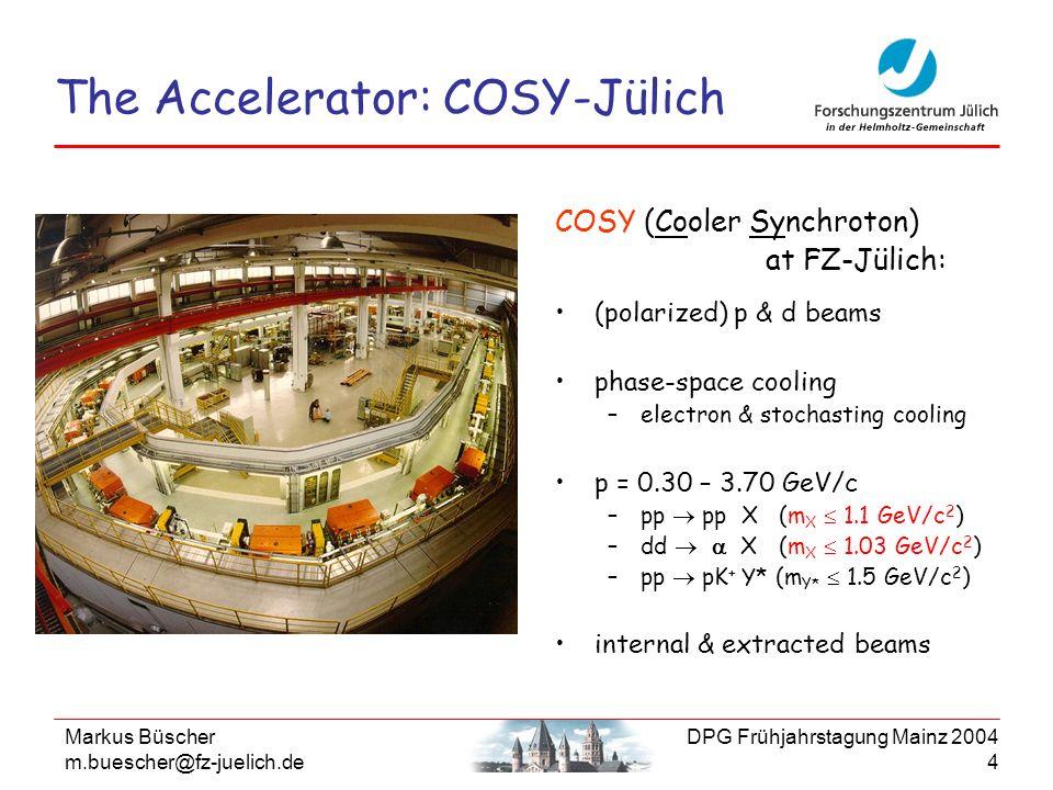 The Accelerator: COSY-Jülich