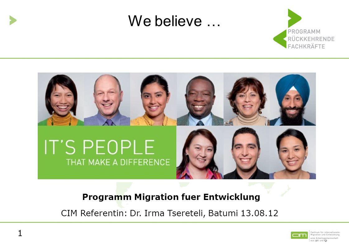 Programm Migration fuer Entwicklung