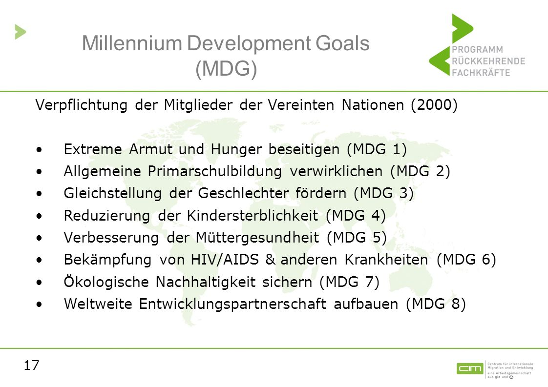 Millennium Development Goals (MDG)