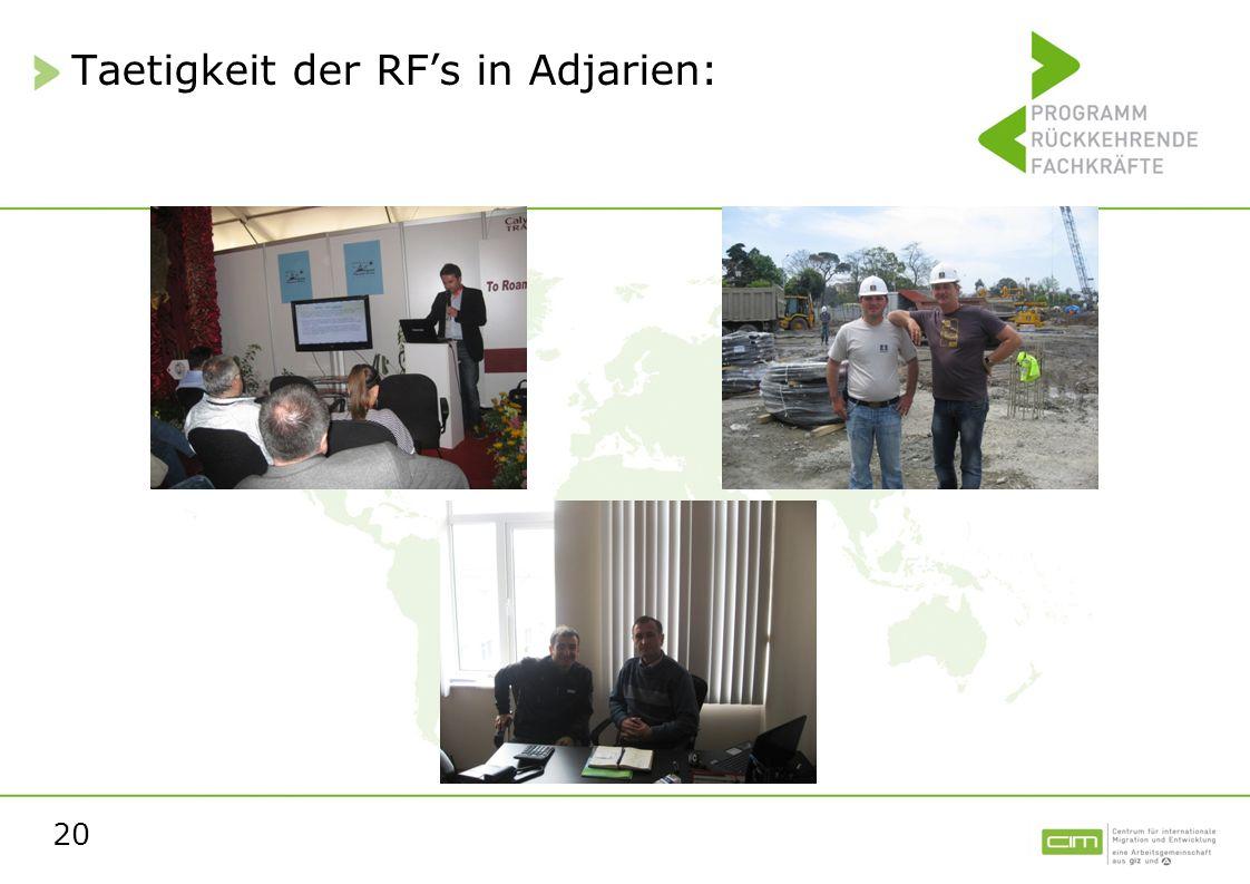 Taetigkeit der RF's in Adjarien: