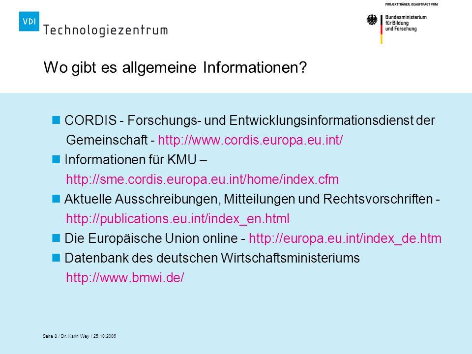 Wo gibt es allgemeine Informationen