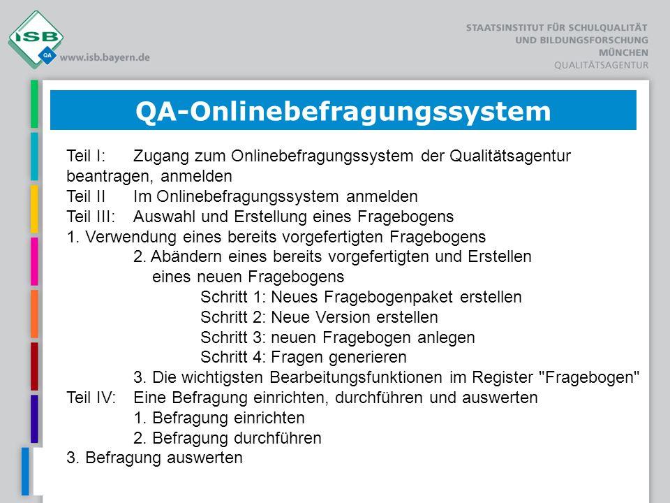 QA-Onlinebefragungssystem