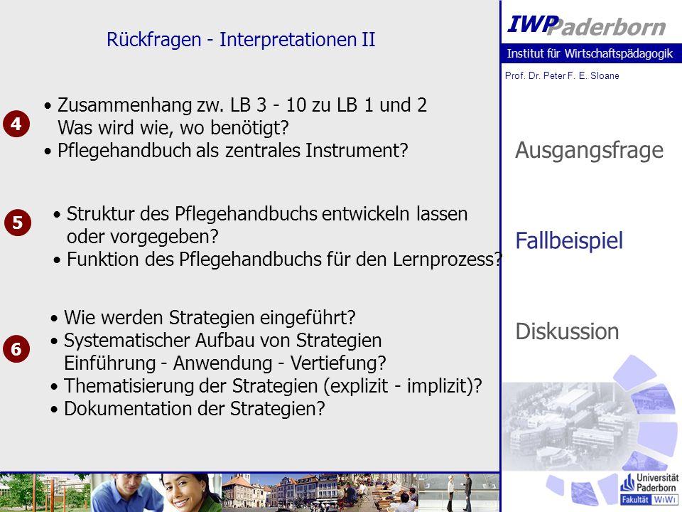 Rückfragen - Interpretationen II