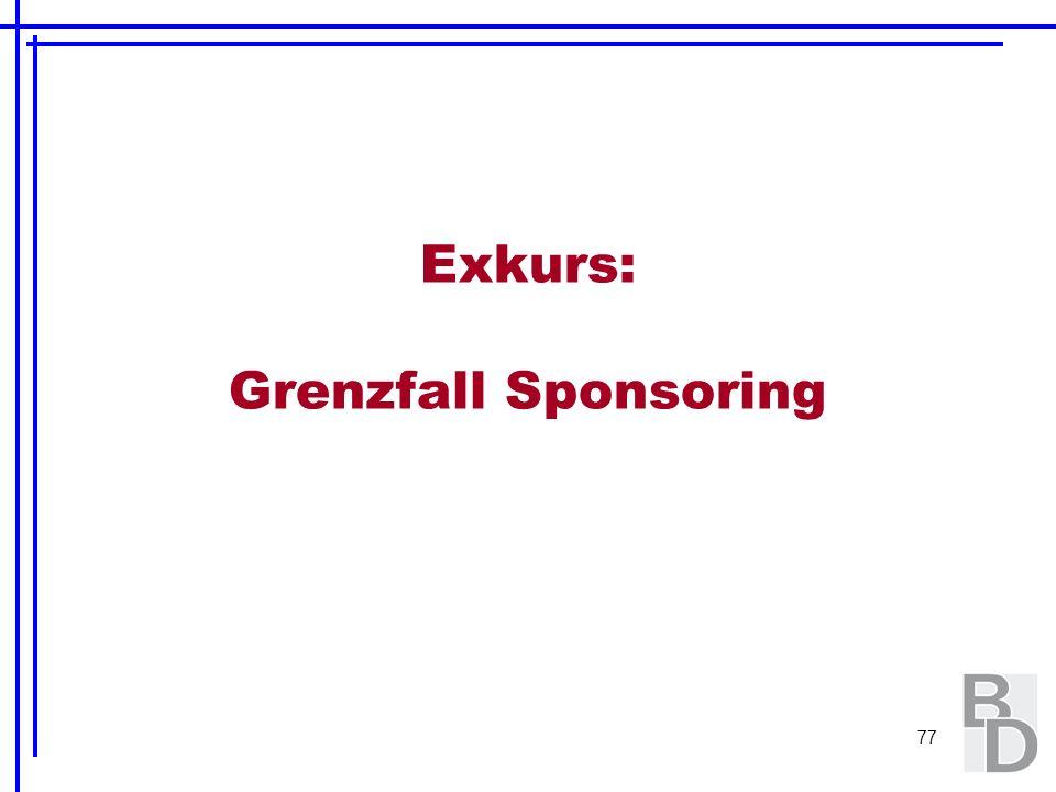 Exkurs: Grenzfall Sponsoring