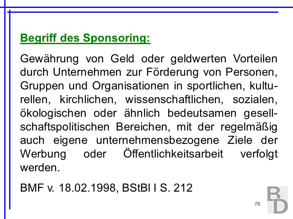 Begriff des Sponsoring: