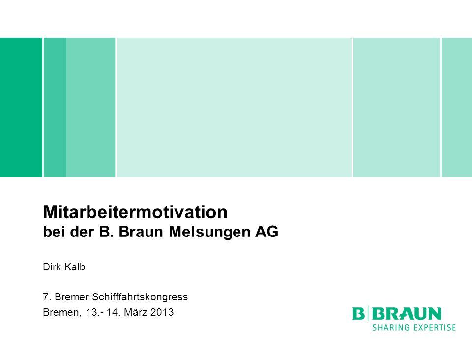 Mitarbeitermotivation bei der B. Braun Melsungen AG