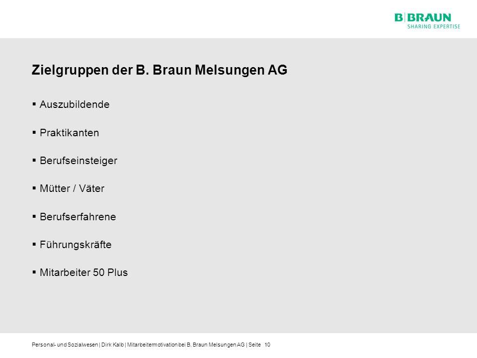 Zielgruppen der B. Braun Melsungen AG