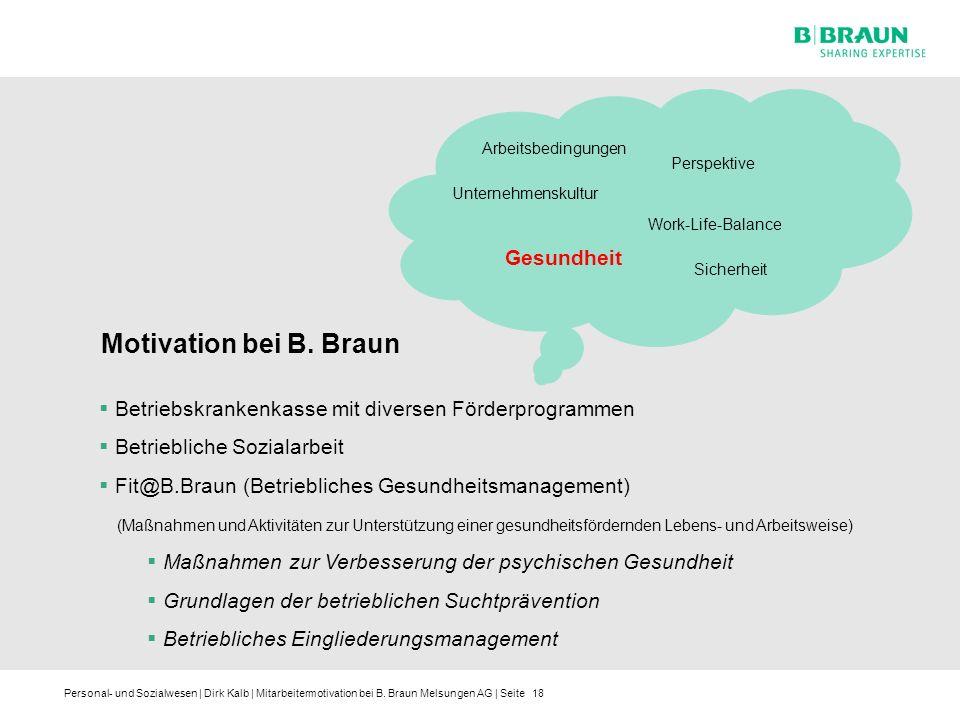 Motivation bei B. Braun Gesundheit