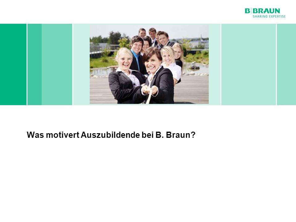 Was motivert Auszubildende bei B. Braun