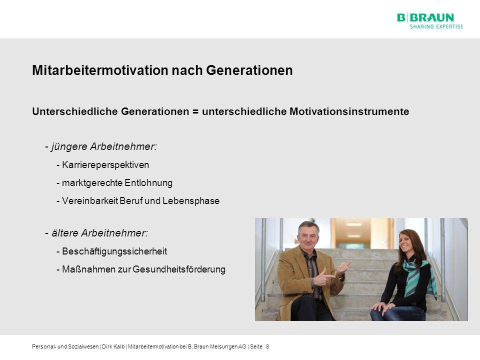 Mitarbeitermotivation nach Generationen