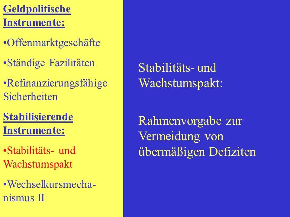 Stabilitäts- und Wachstumspakt: