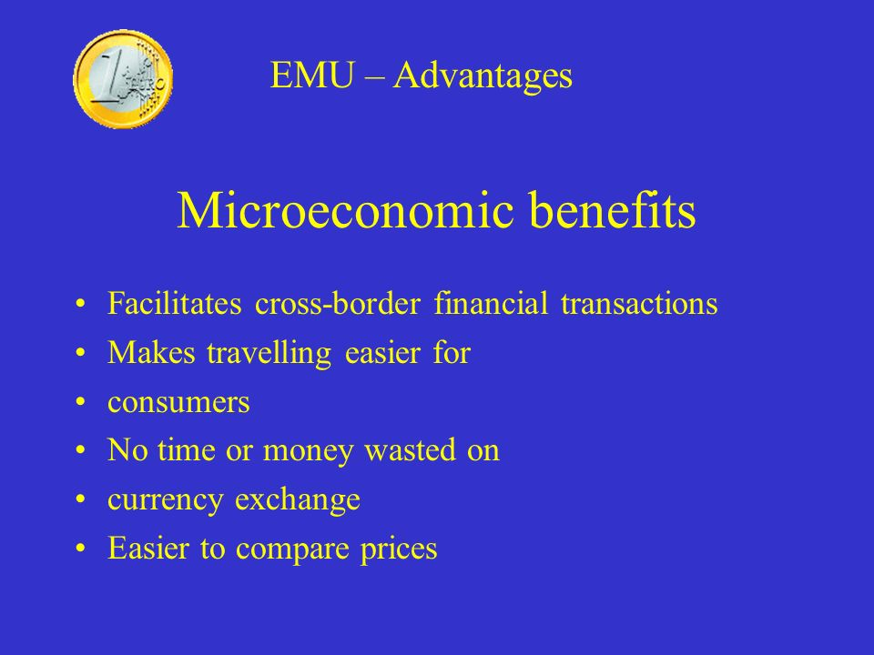 Microeconomic benefits