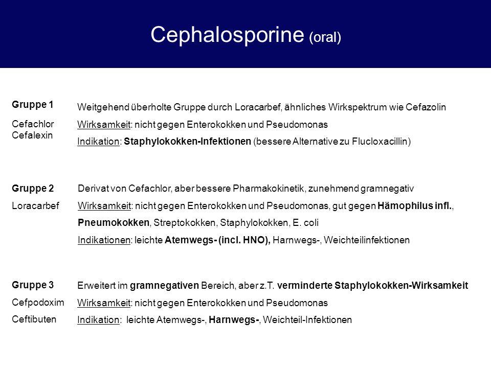 Cephalosporine (oral)