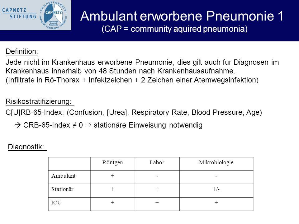 Ambulant erworbene Pneumonie 1 (CAP = community aquired pneumonia)