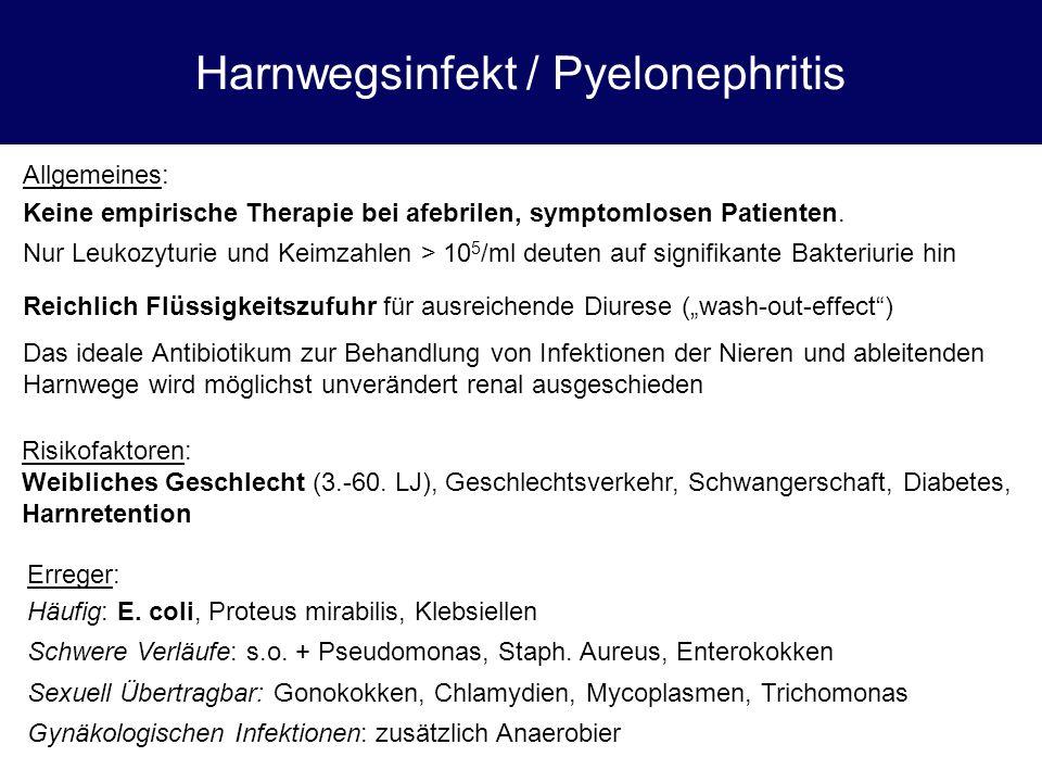 Harnwegsinfekt / Pyelonephritis