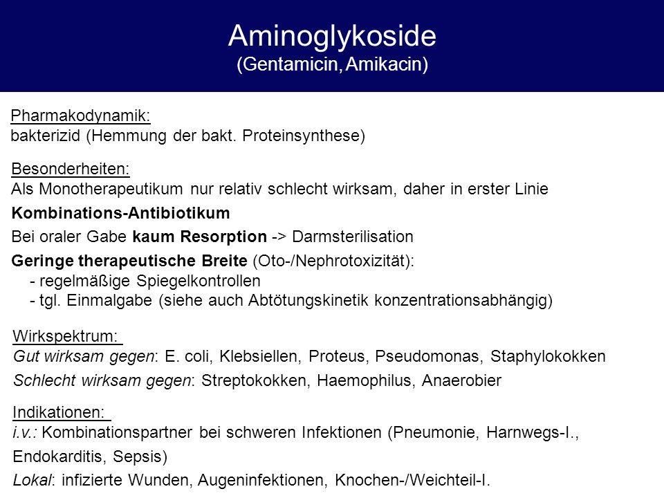 Aminoglykoside (Gentamicin, Amikacin)