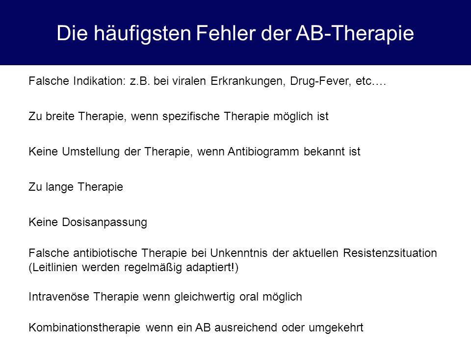 Die häufigsten Fehler der AB-Therapie