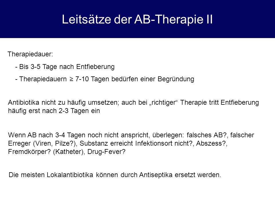 Leitsätze der AB-Therapie II
