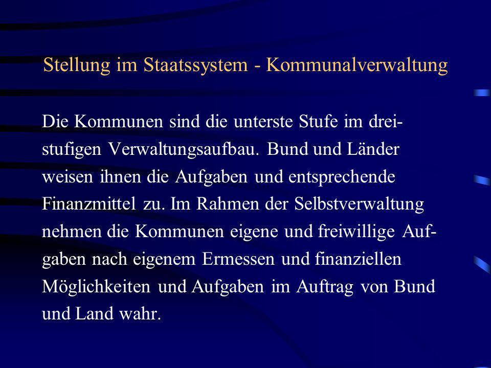Stellung im Staatssystem - Kommunalverwaltung
