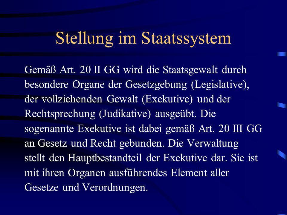 Stellung im Staatssystem