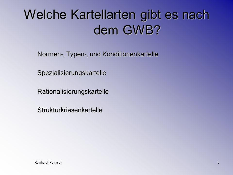 Welche Kartellarten gibt es nach dem GWB