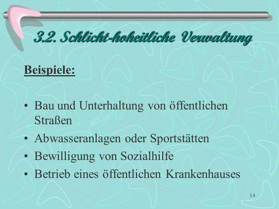 3.2. Schlicht-hoheitliche Verwaltung