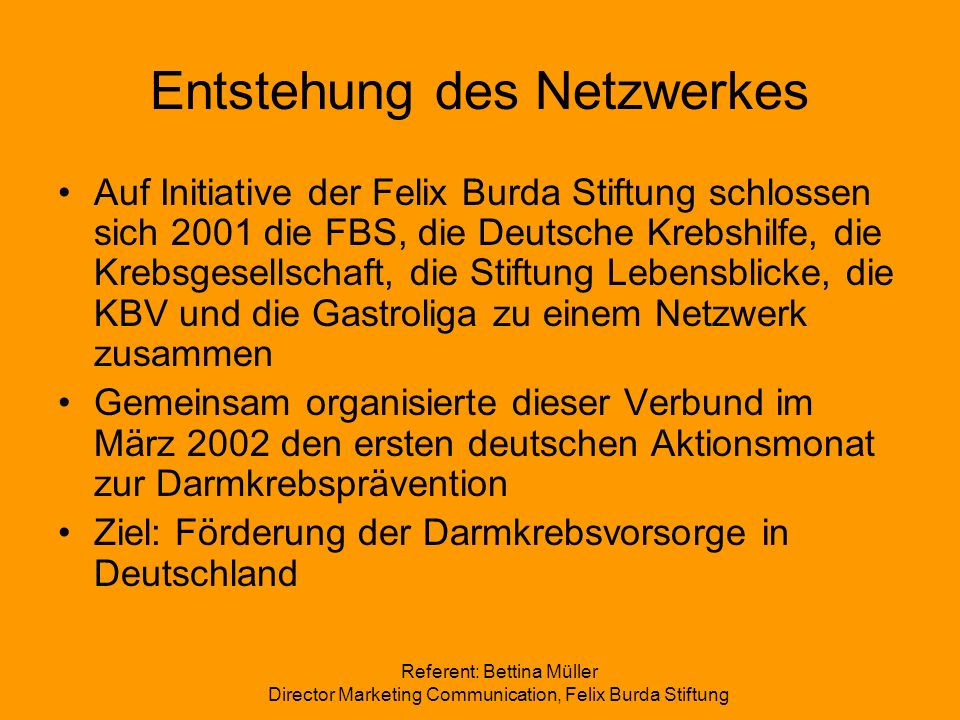 Entstehung des Netzwerkes