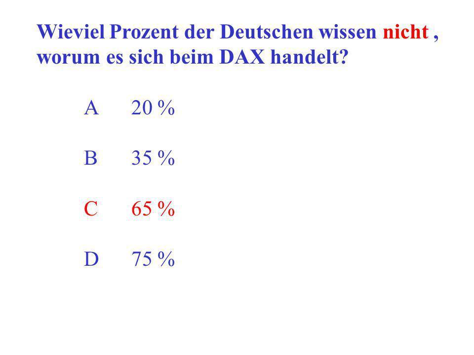 Wieviel Prozent der Deutschen wissen nicht ,