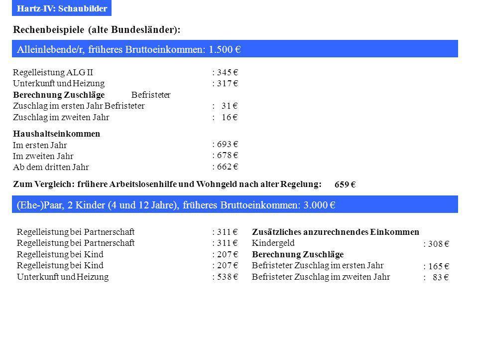 Rechenbeispiele (alte Bundesländer):