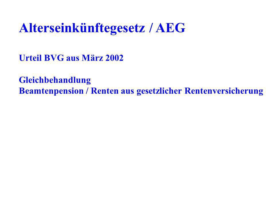 Alterseinkünftegesetz / AEG