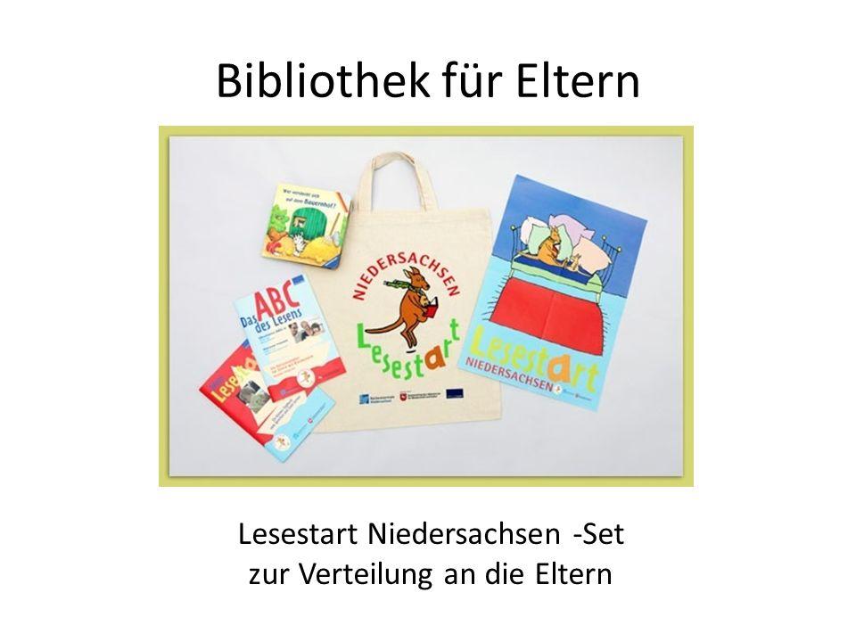 Lesestart Niedersachsen -Set zur Verteilung an die Eltern