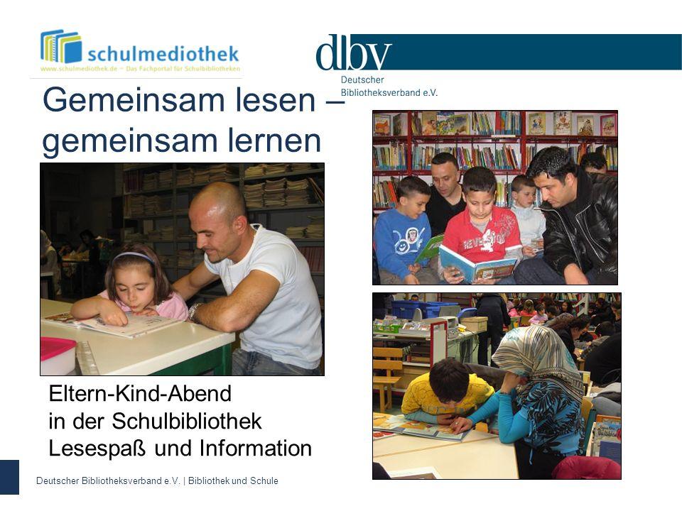 Gemeinsam lesen – gemeinsam lernen