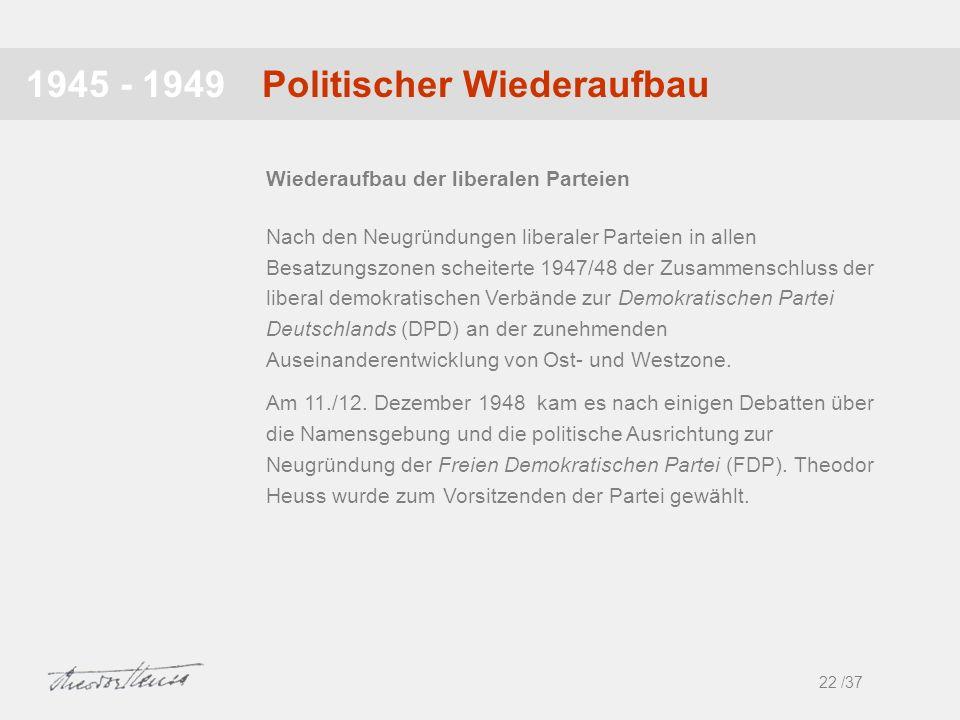 Politischer Wiederaufbau