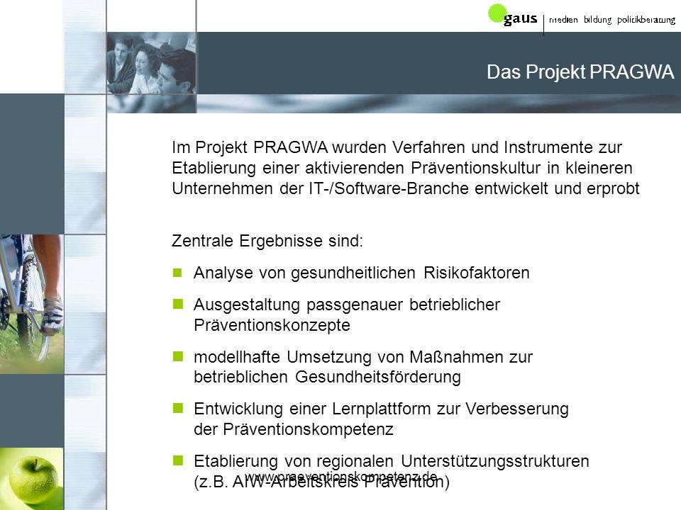 Das Projekt PRAGWA