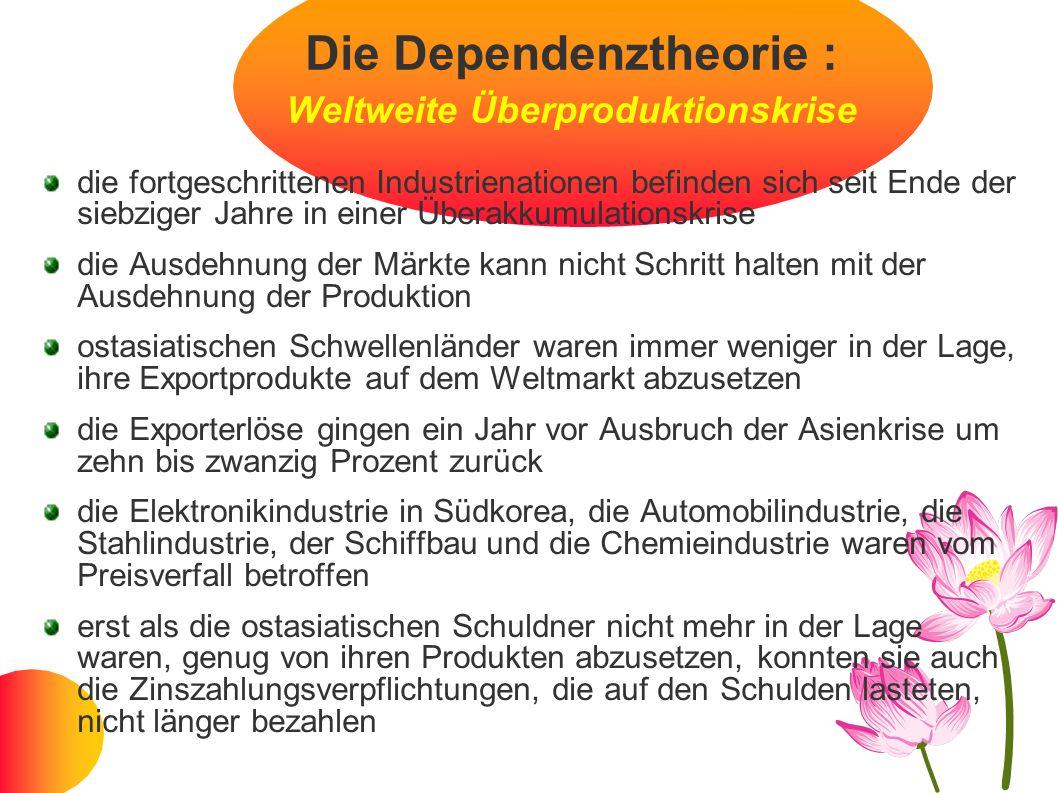 Die Dependenztheorie : Weltweite Überproduktionskrise