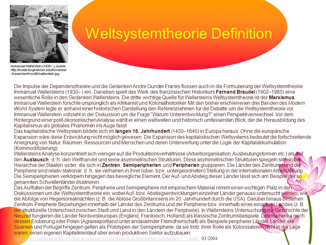 Weltsystemtheorie Definition