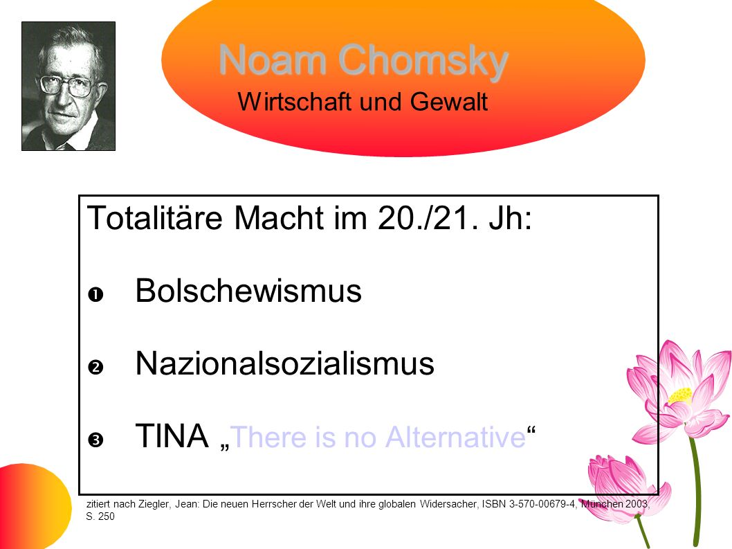 Noam Chomsky Wirtschaft und Gewalt