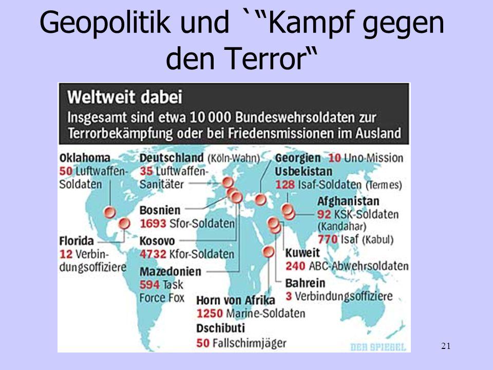 Geopolitik und ` Kampf gegen den Terror