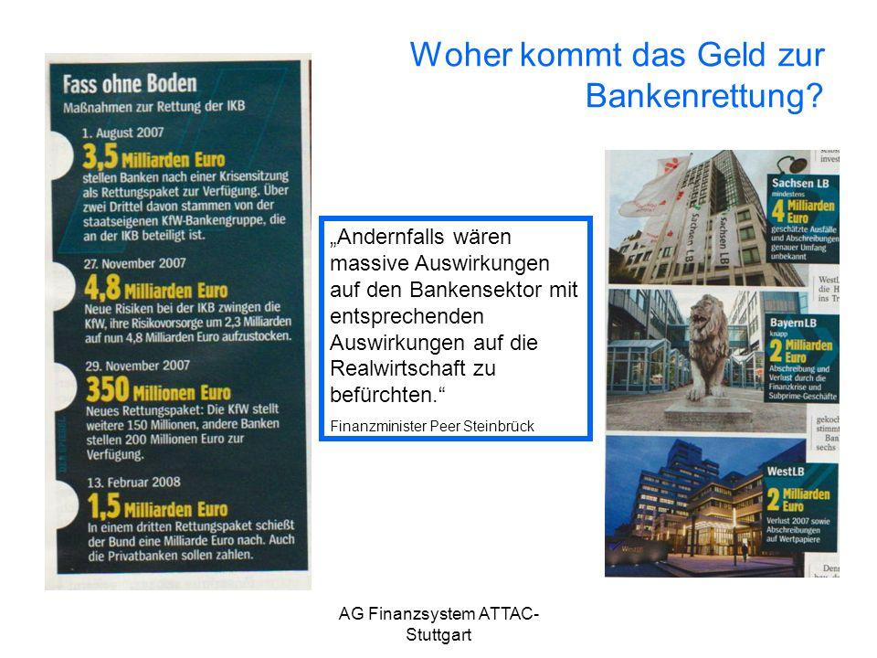Woher kommt das Geld zur Bankenrettung
