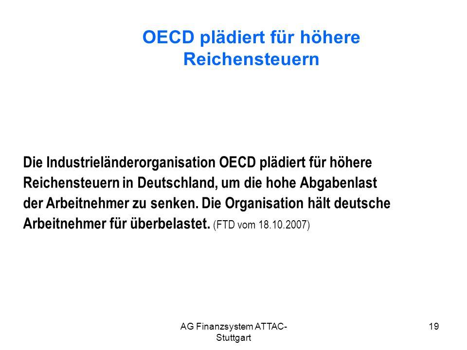 OECD plädiert für höhere Reichensteuern