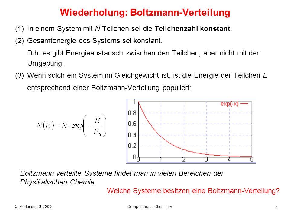 Wiederholung: Boltzmann-Verteilung